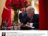 Vice President Biden signed the condolence book Turkish Embassy